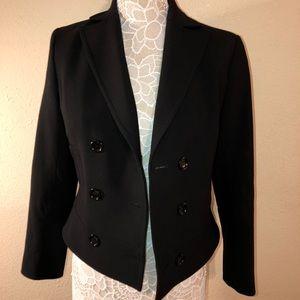Ann Taylor black double breasted button blazer sz2